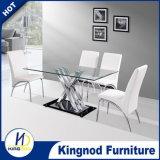 X chromierte Form den Esszimmer-Tisch, der Set speist