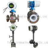 Gas o vapore contatore totale di vortice, flussometro elettromagnetico della turbina dell'acqua