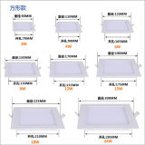 3W Square LED Panel Light, petit panneau LED 4W