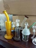 Glaspfeife-Huka-Aschen-Fangfederblech-Raum-grünes und blaues buntes Rohr