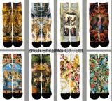 Zhuji-Fabrik passen Mann-Frauen eine 360 Grad-Bildschirmausdruck Sublimation-Druck-Socken an