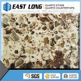 Bancada de pedra de /Quartz das lajes artificiais dobro da pedra de quartzo da cor