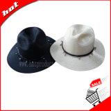 日曜日の女性のパナマ帽子