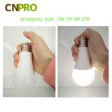 중국 제조자 100lm/W CRI>82 5W 7W 9W 12W E27 E26 지능적인 책임 비상사태 LED 전구 세륨 RoHS