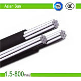 câble Twisted aérien en aluminium d'ABC de paquet isolé par XLPE du faisceau 0.6/1kv