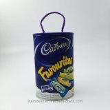 Plastikzylinder-verpackenkasten für Süßigkeit mit Seil und UVdrucken