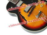 Música de Afanti/corpo oco/cor Sunburst/guitarra elétrica (AES-175)