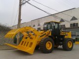 5.0 tonnellate Articulated Wheel Loader (Hq956) con Grass Fork