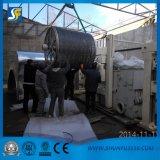 ラインをから作るパルプが付いている機械を作る三日月形のチィッシュペーパーは材料をリサイクルする