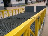 Geschleppter Typ justierbarer hydraulischer LKW-bewegliche Laden-Rampen für Gabelstapler