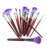 Hair synthétique Brushes 16PCS Professional Cosmetic Makeup Brush