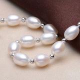 Form des einfachen Entwurfs Frischwasser-Reis-Perlen-Armband des AAA-Grad-8-9mm