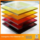 La plastica traslucida di colore ha lanciato lo strato acrilico/strato del perspex/strato acrilico di PMMA