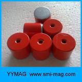 磁気アセンブリ-アルニコの鍋の赤い塗られた磁石