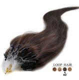 Nero 100% dei capelli dell'anello dei capelli di Remy il micro del ciclo indiano di estensioni Brown biondo