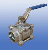 Edelstahl-helle 3PC Kugelventile mit Kolben-Schweißung