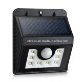 Indicatore luminoso solare impermeabile del sensore di movimento 2016 per il giardino (RS2001)