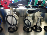 Pn16 CF8/Ss304 вся клапан-бабочка вафли нержавеющей стали с ручкой