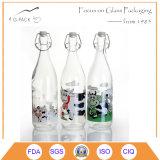 Бутылка верхней части качания бесцветного стекла ODM/OEM для сока