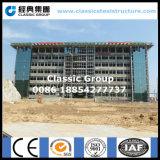 Mehrstöckiges Gebäude-Büro-Stahlkonstruktion mit Glasvorhang