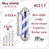 Magisches Haar-Salon-Geräten-roter und weißer Herrenfriseur-Pole-dekorative drehende Herrenfriseur-System-Lampe