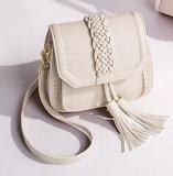 Hand-Knitted方法PUの女性のハンドバッグ