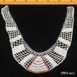 32*38cm die königliche französische Baumwolle färbte Muffen-Spitze-Ordnung mit Zutat-Spitze-Textilfeld des Geometrie-Streifen-Stickerei-weiblichem Bekleidungszubehör-Hm202