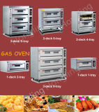고품질 생과자 생산 라인 (실제적인 공장)를 위한 상업적인 굽기 가스 오븐
