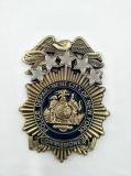 Emblema de bronze esmaltado personalizado do metal