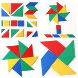 Tangrams OnderwijsStuk speelgoed van het Raadsel van Jonge geitjes het Plastic