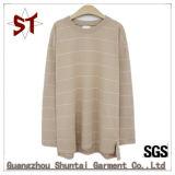 Baumwollfreizeit-Form-gestreiftes Strickjacke Hoodie T-Shirt 100% für Unisex
