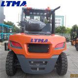 이중 정면 타이어를 가진 Ltma 상표 6t 자동적인 디젤 엔진 포크리프트