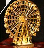 مصغّرة [قوت] [3د] معدن لغة يبيطر خفّ ذهبيّة [هيغ-هيلد] بناية بالغ جدي تجميع نموذج تربويّ لعب هبة