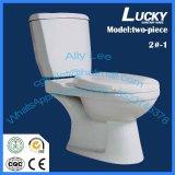 Toilette en deux pièces ronde de la haute performance Jx-2#-1 économique
