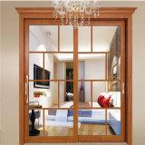 Disegno di vetro di alluminio del doppio portello del portello della camera da letto