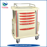 Krankenhaus-Gebrauch ABS, die medizinische Laufkatze mit Fächern wartet