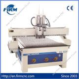 Гравировальный станок FM-1325 вырезывания CNC Двойн-Головки деревянный