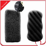 Konjac Bath Sponge Natural White en Charcoal Black Deep Cleansing Sponge