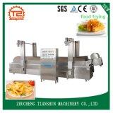 Microplaquetas de batata automáticas da frigideira contínua da produção que fazem a máquina Tszd-80