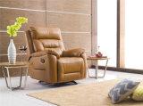 Sofá del cuero genuino de la sala de estar (C782)