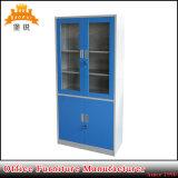 4 Tür-Büro-Möbel-Glastür-Aktenspeicherungs-Schrank-Schrank