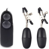 Peito Stimulation Double Vibrating Sex Egg com Nipple Clamps
