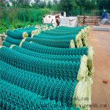 Покрынная PVC сваренная ячеистая сеть звена цепи