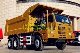 Sinotruk HOWO 70トン極度の頑丈な鉱山のダンプトラック
