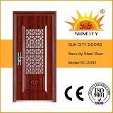 Portello d'acciaio del portello indiano di stile con il disegno della finestra (SC-S092)