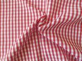 O algodão conservado em estoque pronto do poliéster verific a tela tingida fio da camisa