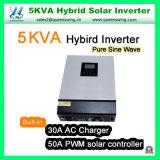 5kVA Omschakelaar van de Macht van de Golf van de Sinus van de Omschakelaar van het Controlemechanisme PWM van 4000W de Zonne Hybride Zuivere