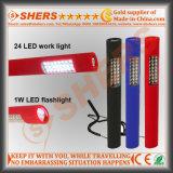 Pluma de la luz LED con la batería en seco