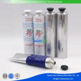Tube compressible en aluminium de couleur d'impression de finissage argenté de peinture à l'huile pour la crème de main