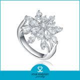 Кольцо стерлингового серебра овала 925 моды с дешевым ценой (R-0575)